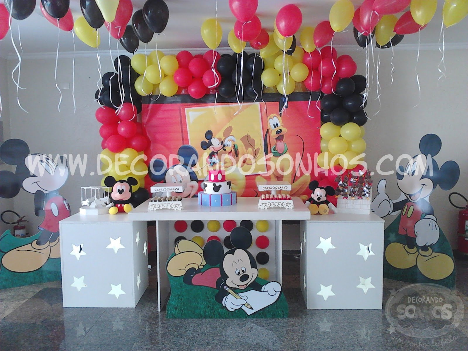 Proven  Al Mickey Decora    O De Festa Infantil Mickey Decora    O De