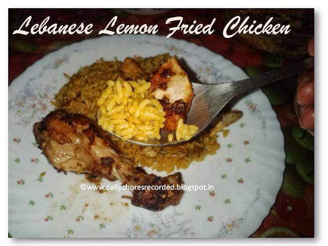 Lebanese Lemon Fried Chicken