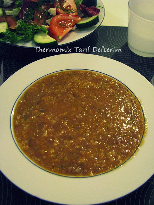 Borlotti Bean and Buckwheat Soup with Thermomix