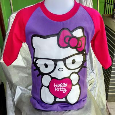 Kaos Raglan Anak Karakter Hello Kitty