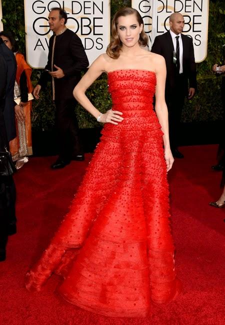 Алисън Уилямс в бална рокля Armani на наградите Златен глобус 2015