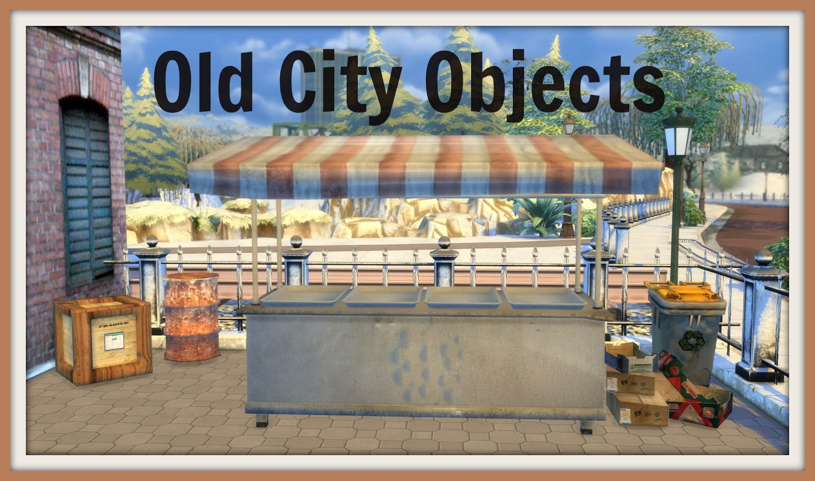 Sims 4 old city objects dinha for Old objects