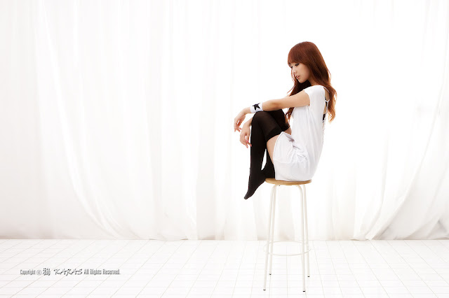4 Minah in Black and White-Very cute asian girl - girlcute4u.blogspot.com