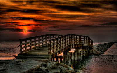 Lovely Sunset Bridge Full HD Nature Background Wallpaper for Laptop Widescreen