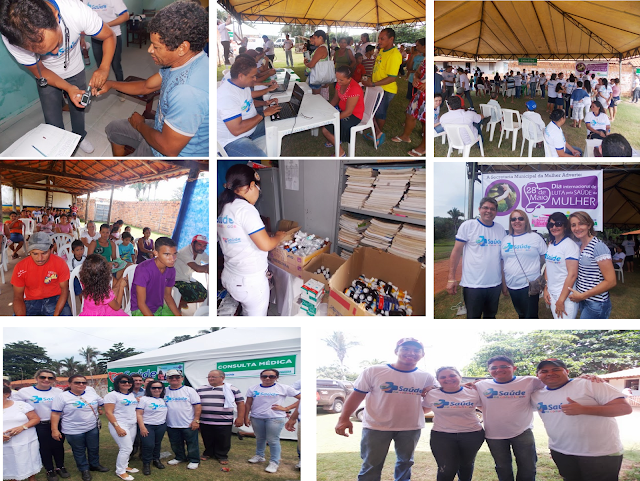 """Momentos do """"Programa Saúde na Comunidade"""" no Povoado Maceno (Fotos: Blog do Foguinho)"""