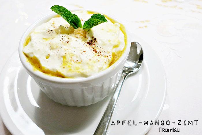 Apfel-Mango-Zimt Tiramisu