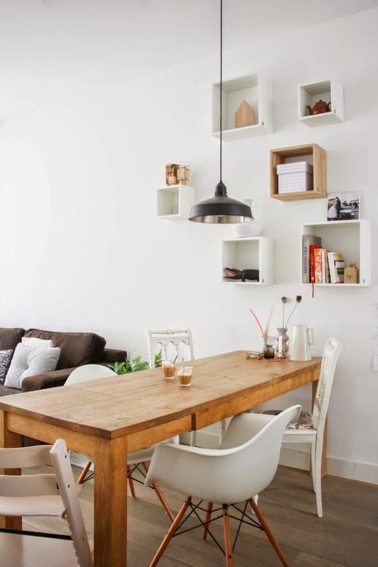 Blanco vintage una casa con coraz n for Estanterias estilo escandinavo