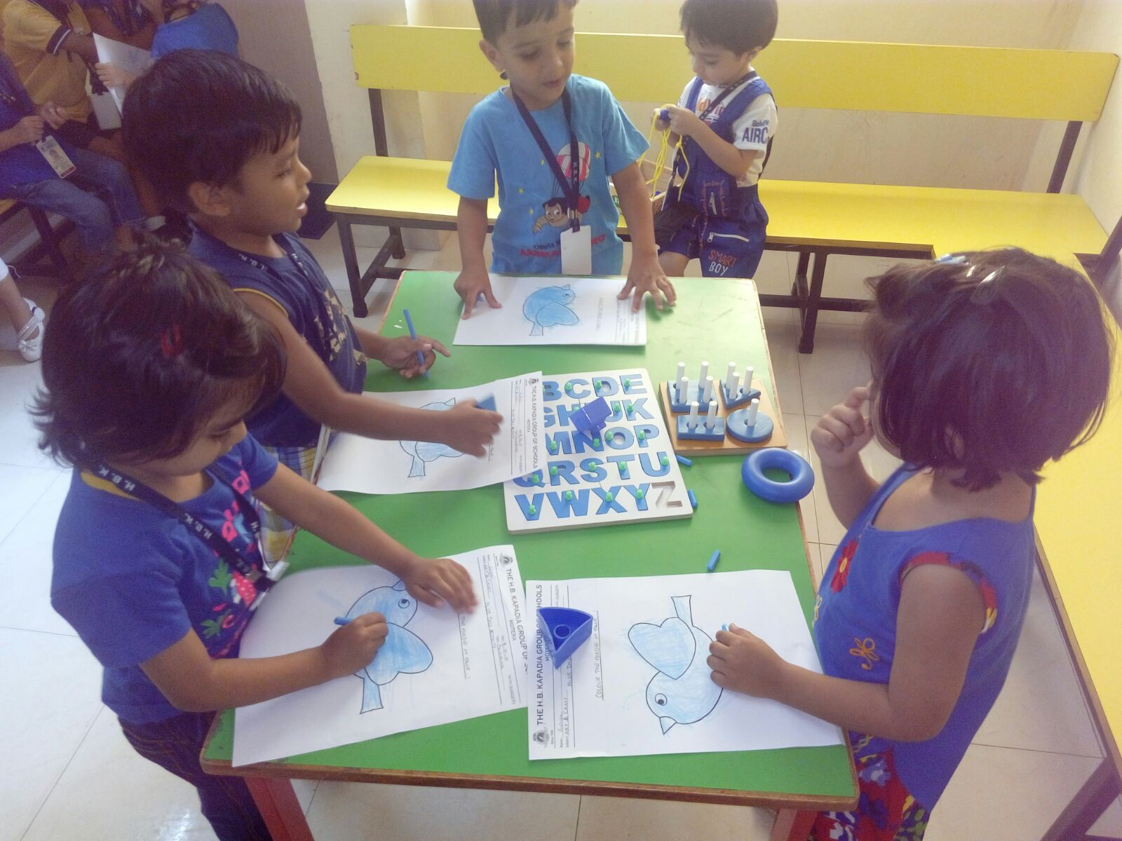 Activities Pre Primary Motera BLUE DAY