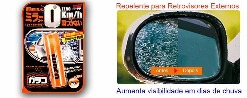 Glaco Zero Repelente para espelhos retrovisores