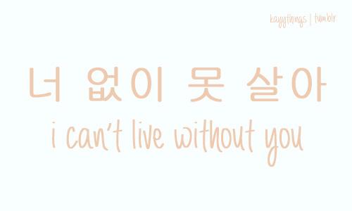 Korean word for love