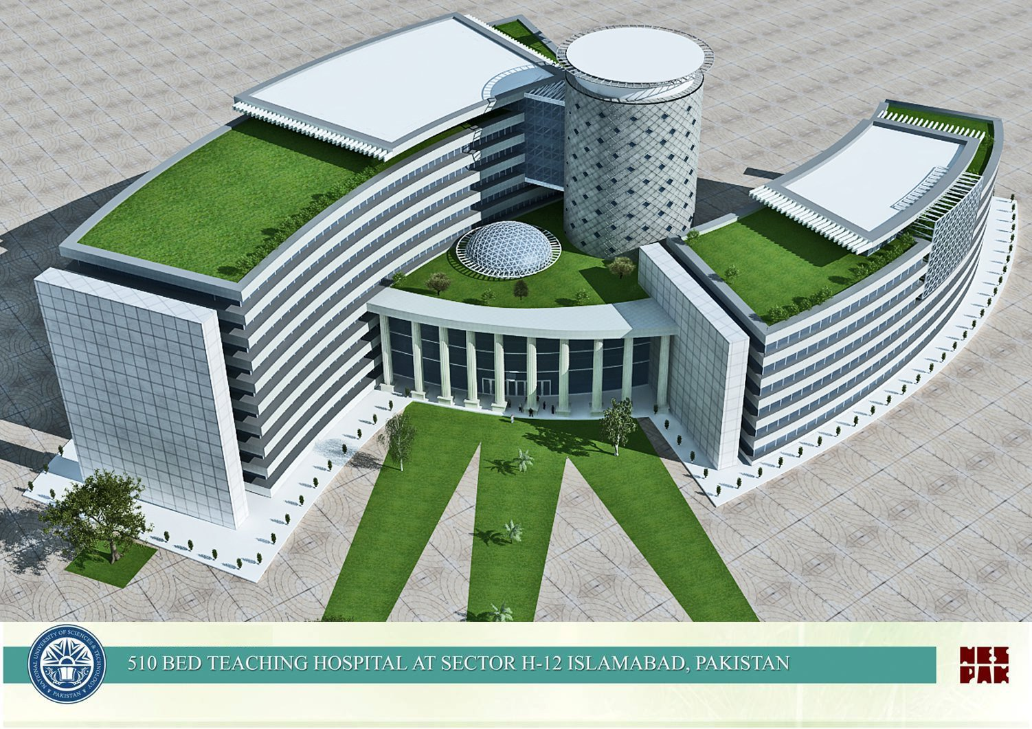 Commercial Building Elevation Plan Designs : D front elevation commercial plaza tower
