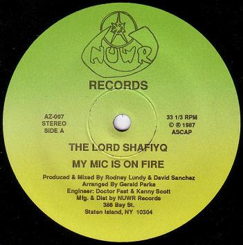 Lord Shafiyq ‎– My Mic Is On Fire / Kool Kat (1987) (256 kbps) (12'')