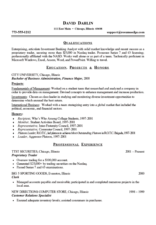 medical device  s rep resume examples  a strong resume font    times
