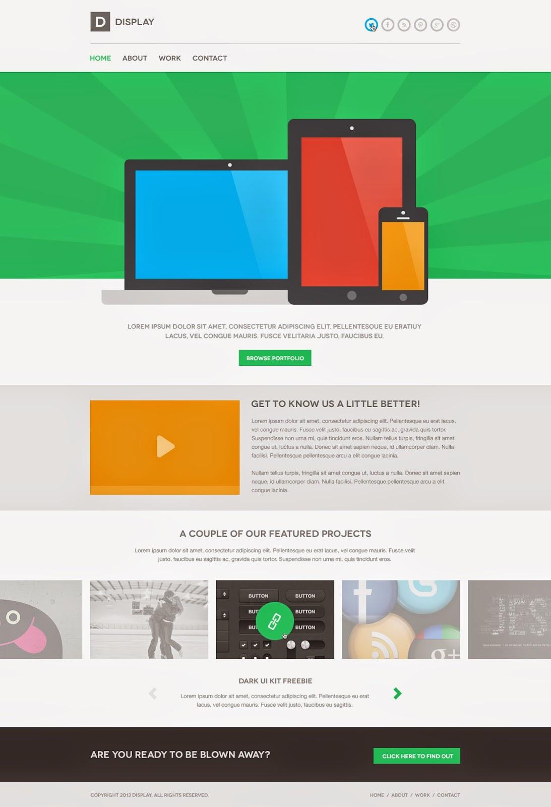 Display PSD Theme Website