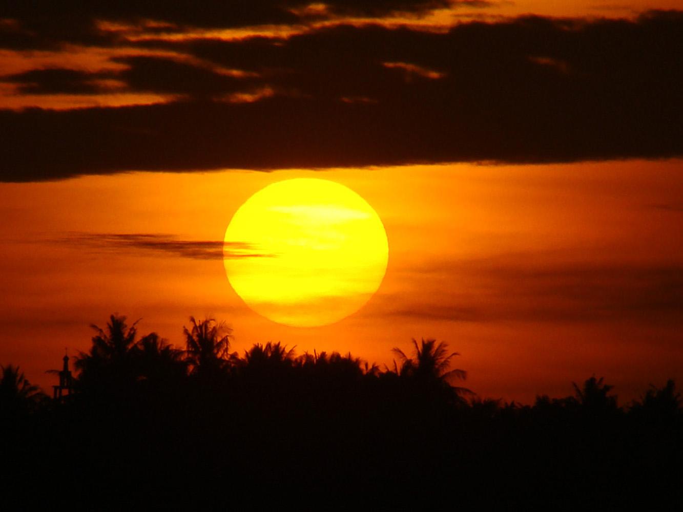 gambar matahari terbit yang indah