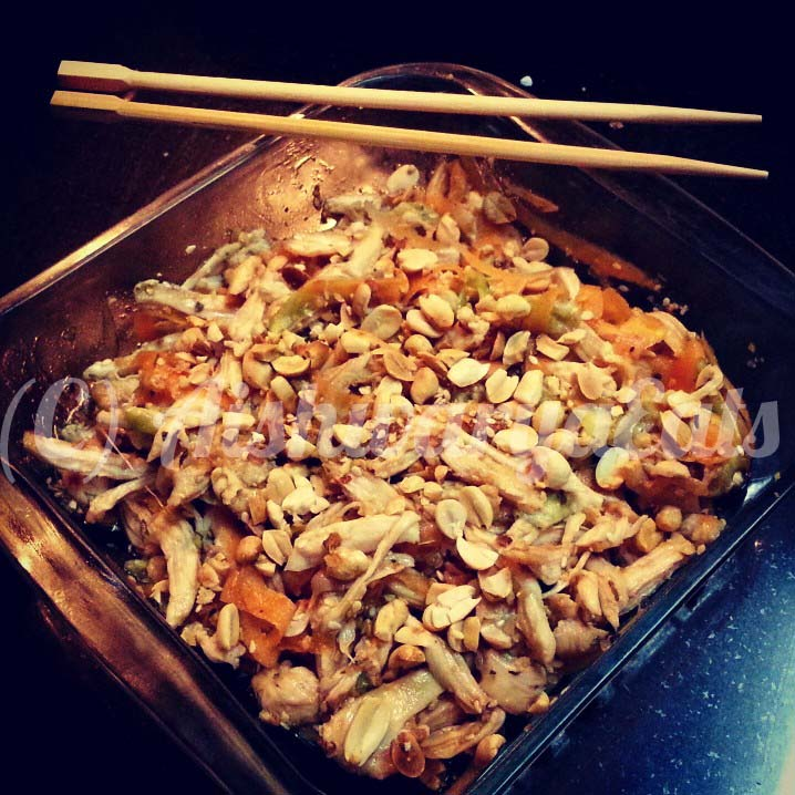Thai-Style Grilled Chicken Salad, with Summer Vegetable Ribbons and a ...