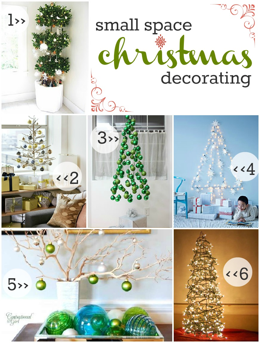 Beginner beans small space christmas decorating an for Minimalist decorating small spaces