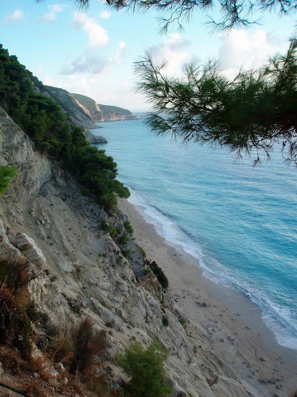 Der Strand Egremni auf der griechischen Insel Lefkada
