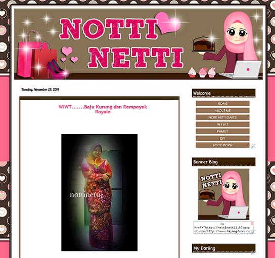Tempahan : Blog Notti Netti