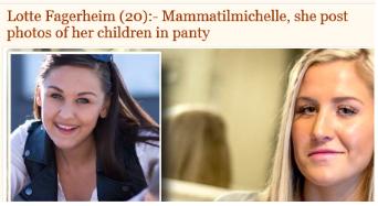 Mammatimichelle får kritikk av Lotte Fagerheim