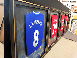 Framed sport jerseys