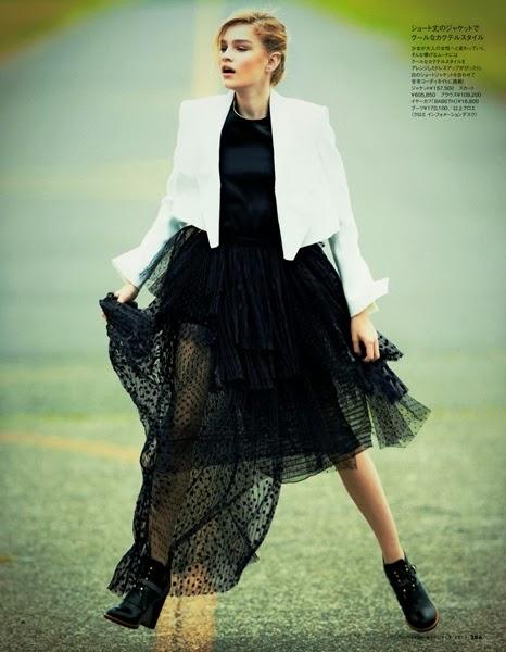 Chloé AW 2013 Black Dot Mesh Skirt