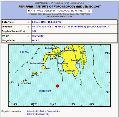 Magnitude 6 quake hit Sultan Kudarat, Mindanao
