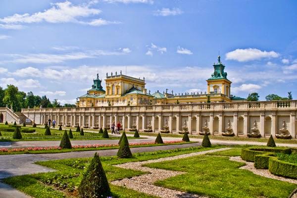 Wilanow paladset, Warszawa, Polen