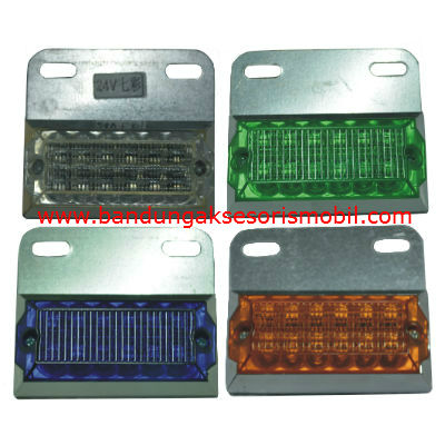 Lampu Box LED 12/16 Mata 24V - 7 Colour Putih/Hijau/Biru/Kuning