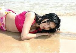 Wet Anuradha Mehta At Beach Navel Stills