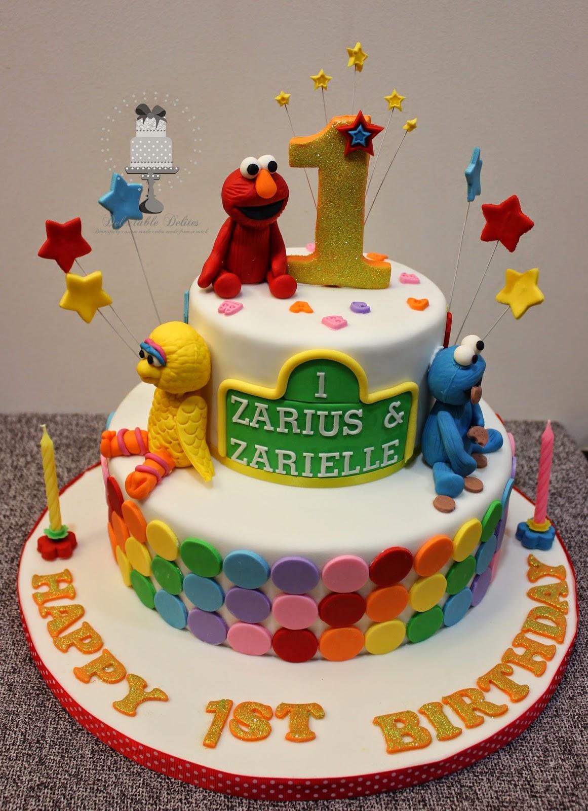 Delectable Delites Elmo and friends cake for Zarius Zarielles