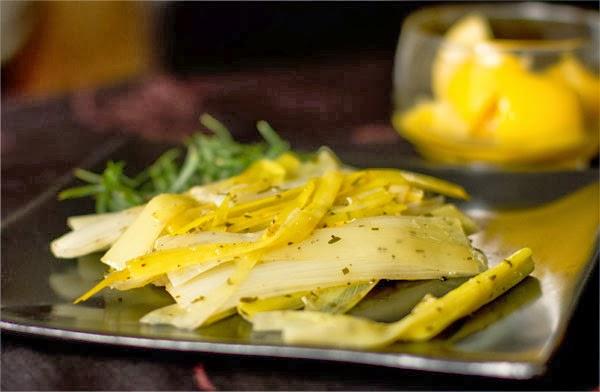 Leeks Braised with Preserved Lemons & Tarragon