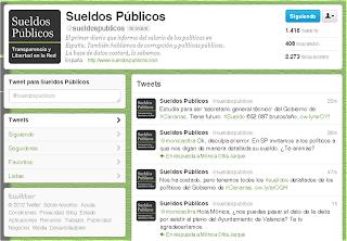 La cuenta de Twitter de Sueldos Públicos gana seguidores sin cesar cada semana