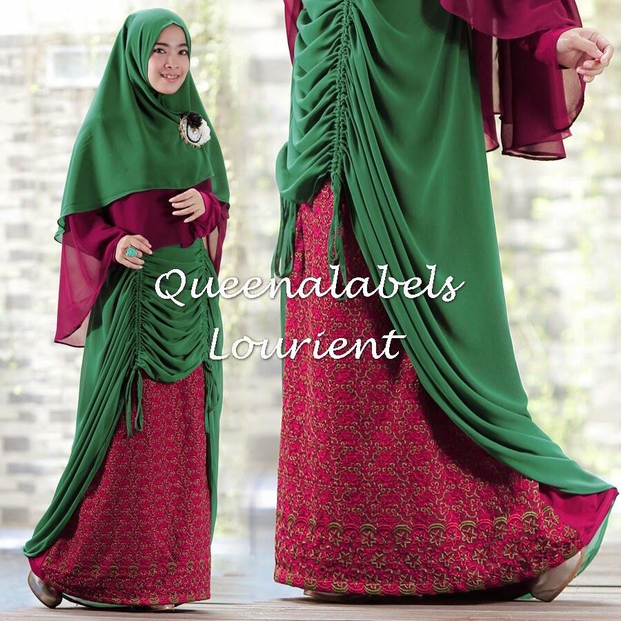Baju Gamis Terbaru Buat Lebaran 2017 New Lourient Syar By