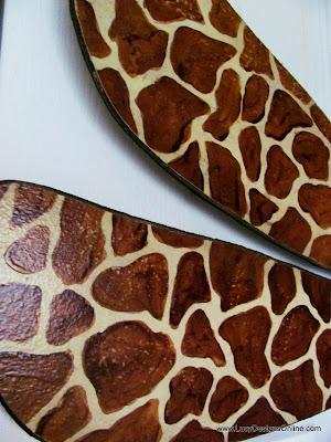 hand painted giraffe designs