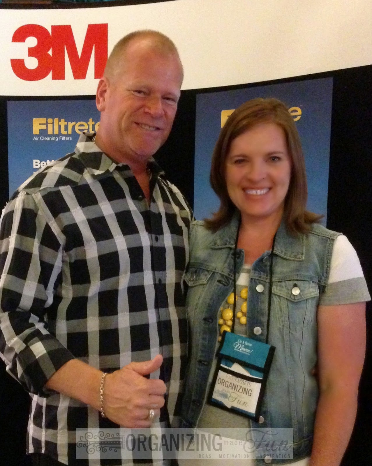 Mike Holmes and I :: OrganizingMadeFun.com