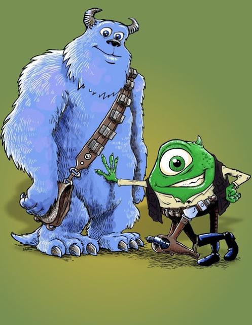 MashUp de Monstruos S.A. y Star Wars