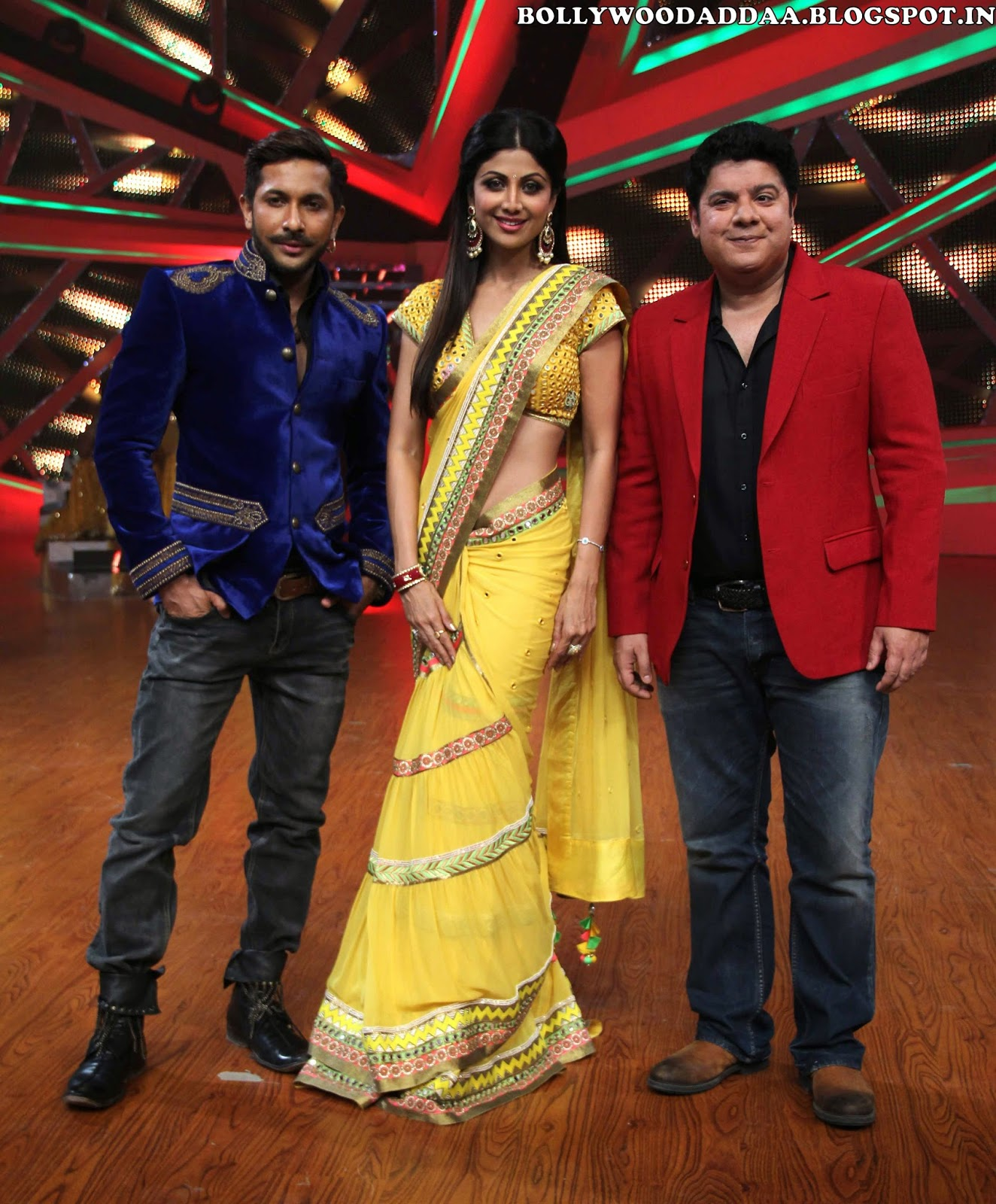 Terence Lewis , Sajid Khan on sets of Nach Baliye Hot Unseen Pics Of Shilpa Shetty