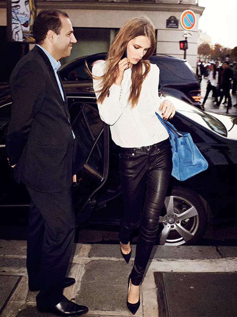 Caroline Brasch Nielsen as Victoria Beckham for Vogue Paris, photographed by Terry Richardson, styled by Emanuelle Alt