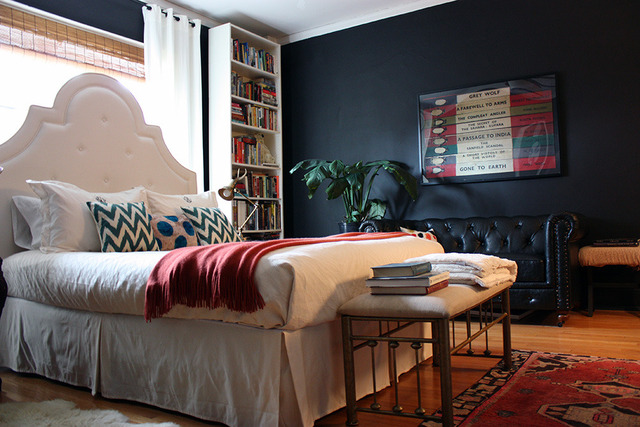 our black bedroom from Apartment Therapy- Martha Stewart Francesca paint