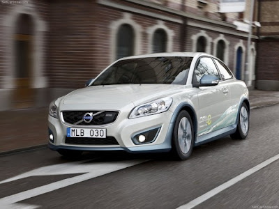 2011-Volvo-C30-BEV-Front-Angle-View-Hybrid-Car