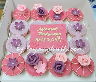 Cupcakes Hantaran Fondant