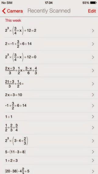 كيفية حل المعادلات الرياضية والمسائل الحسابية المعقدة بواسطة هاتفك الذكي PhotoMath iOS xap