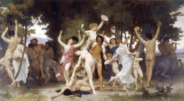 Bacchus,William Adolphe Bouguereau,myth painting