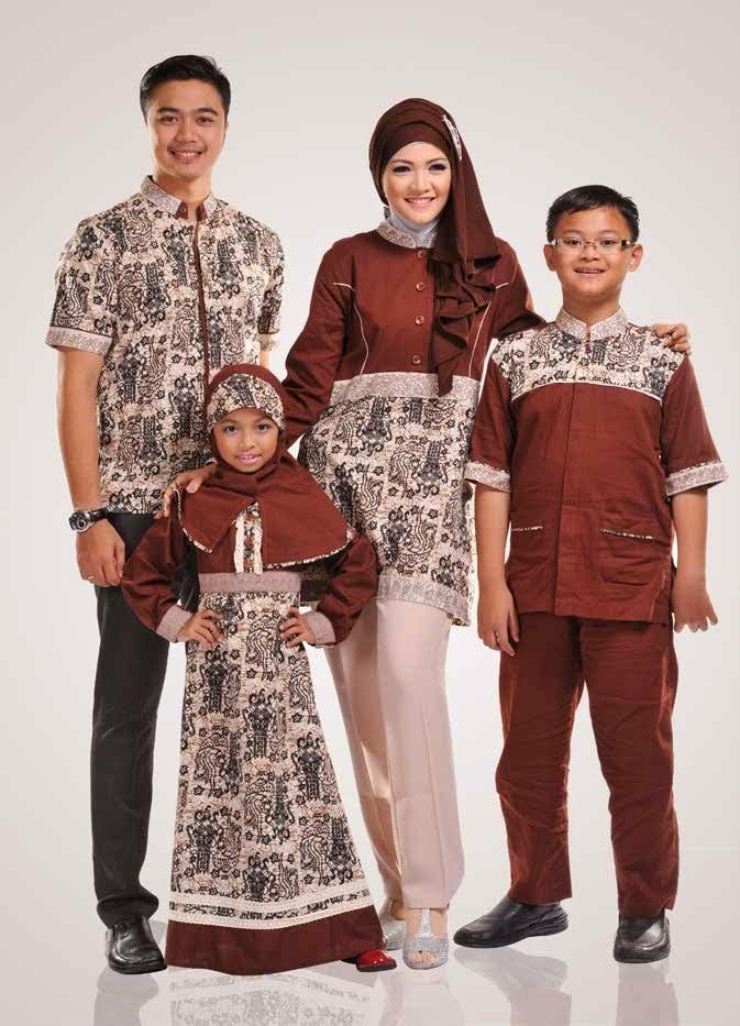 Desain Model Baju Batik Keluarga Untuk Lebaran