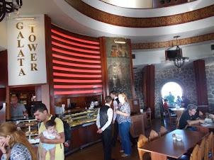 "Plush restaurant on top-most floor of ""Galata Tower""."