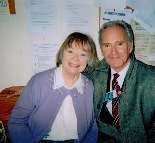 Daphne Neville and Tony Adams in the BBC TV series 'Doctors'