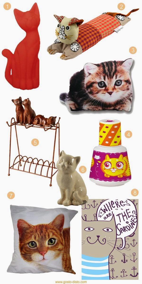 Decoração com formato de gatos