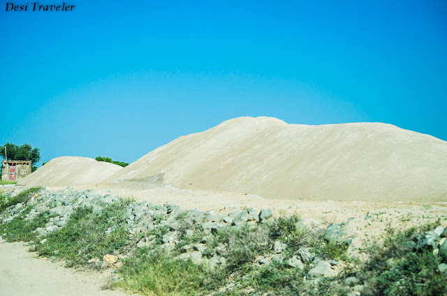 salt ready to be shipped in Tal chapar salt pans in Rajasthan