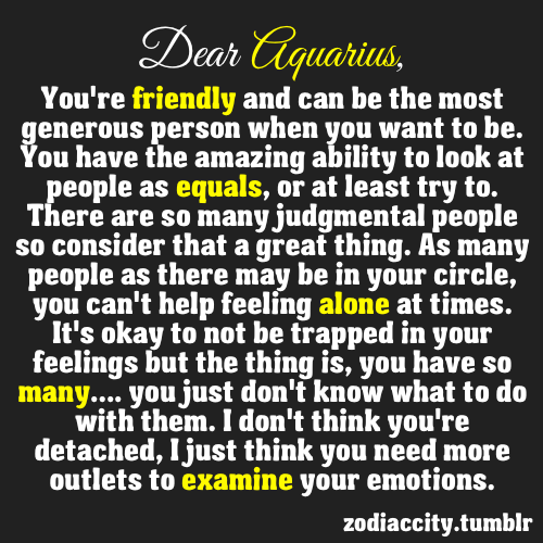 Aquarius Horoscope Quotes